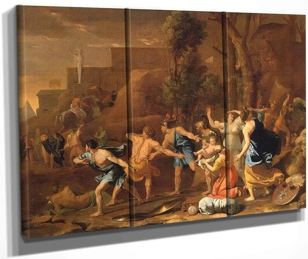 The Rescue Of Young Kind Pyrrhus By Nicholas Poussin