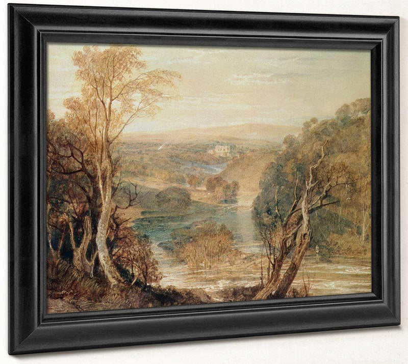 The River Wharfe With A Distant View Of Barden Tower By Joseph Mallord William Turner