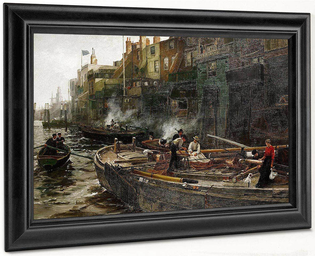 The Riverside, Limehouse By William Henry Walker
