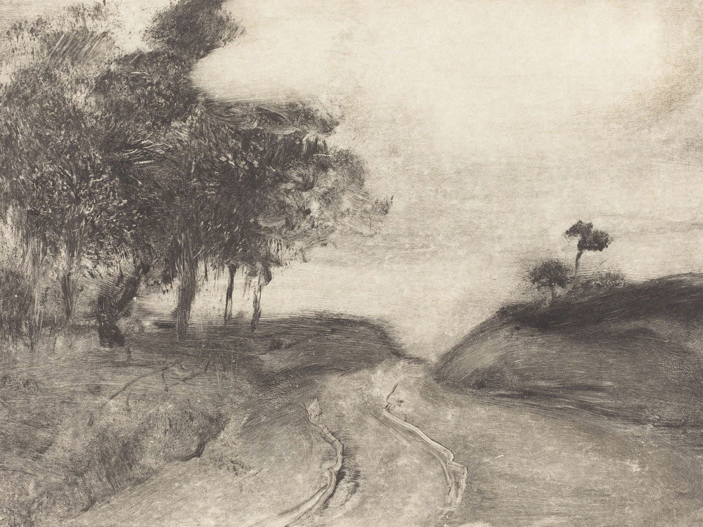 The Road (La Route) By Edgar Degas