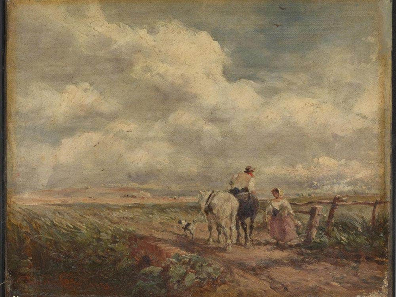 The Road Across The Common By David Cox
