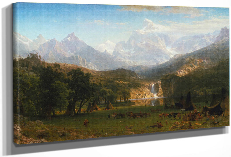 The Rocky Mountains Lander 1039 S Peak 1863 By Albert Bierstadt