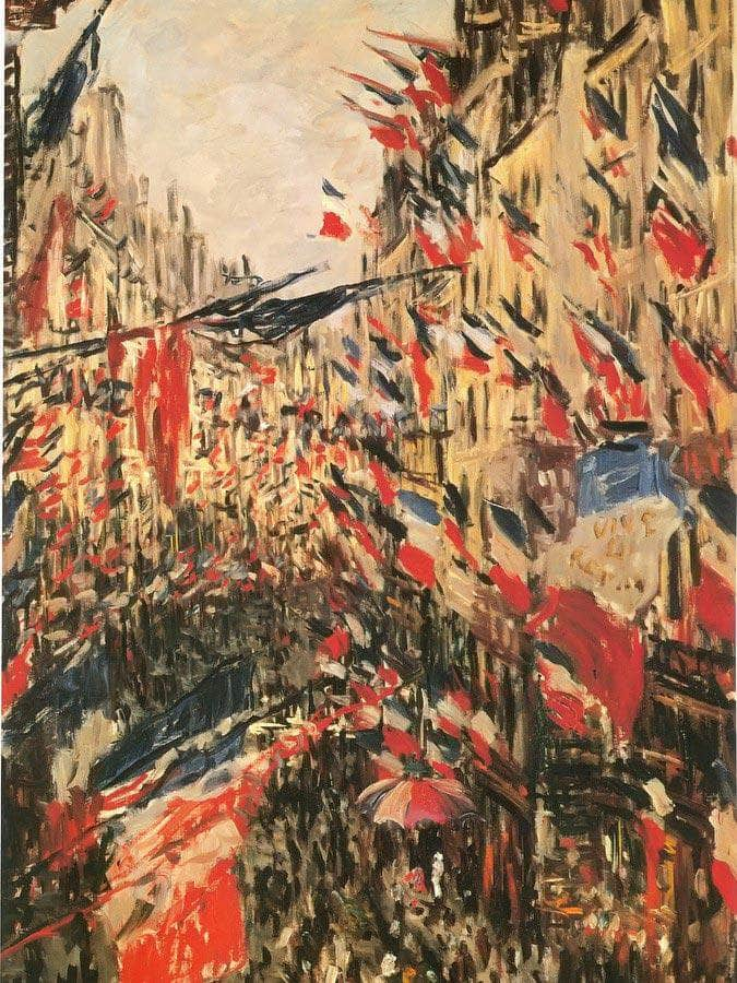 The Rue Saint Denis By Claude Monet