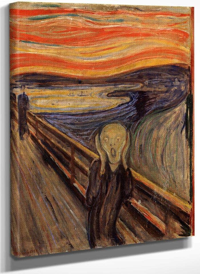 The Scream 1893 1893 By Edvard Munch