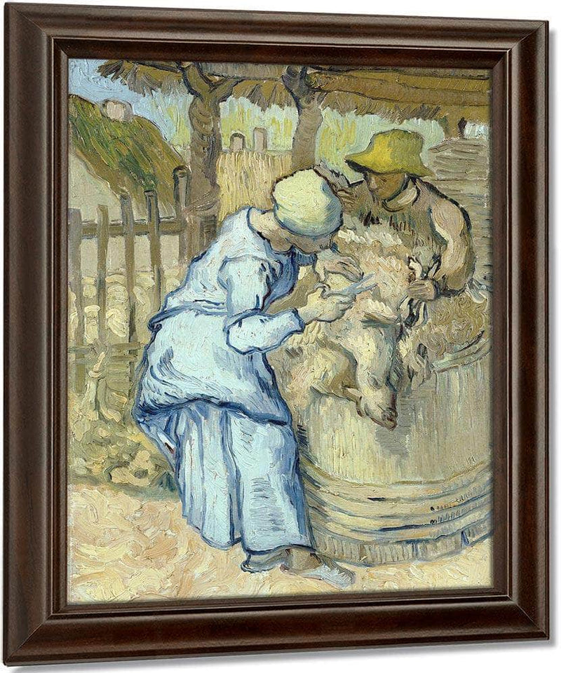 The Sheep Shearer (After Millet) By Vincent Van Gogh