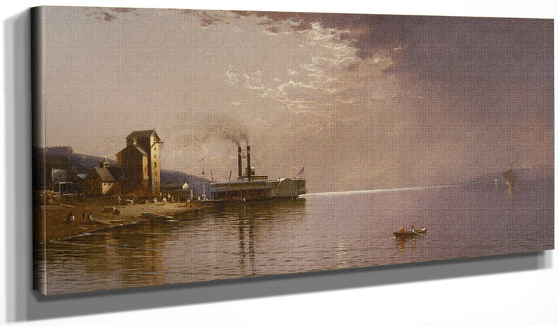 The Sidewheeler The City Of St. Paul On The Mississippi River, Dubuque, Iowa By Alfred Thompson Bricher