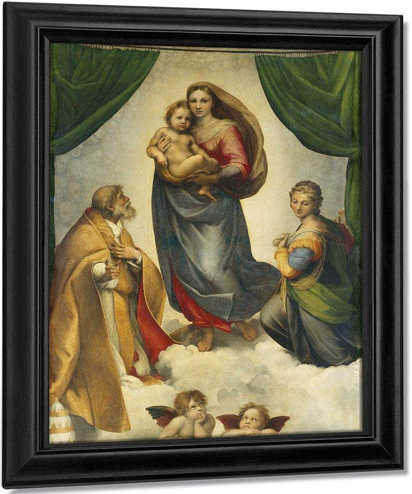 The Sistine Madonna (Oil On Canvas) By Raphael