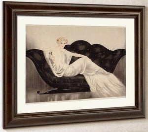The Sofa 1937 By Louis Icart
