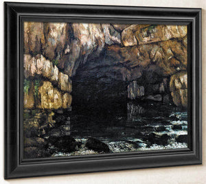 The Source Of The Loue By Gusave Courbet