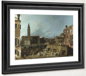 The Stonemason's Yard By Canaletto