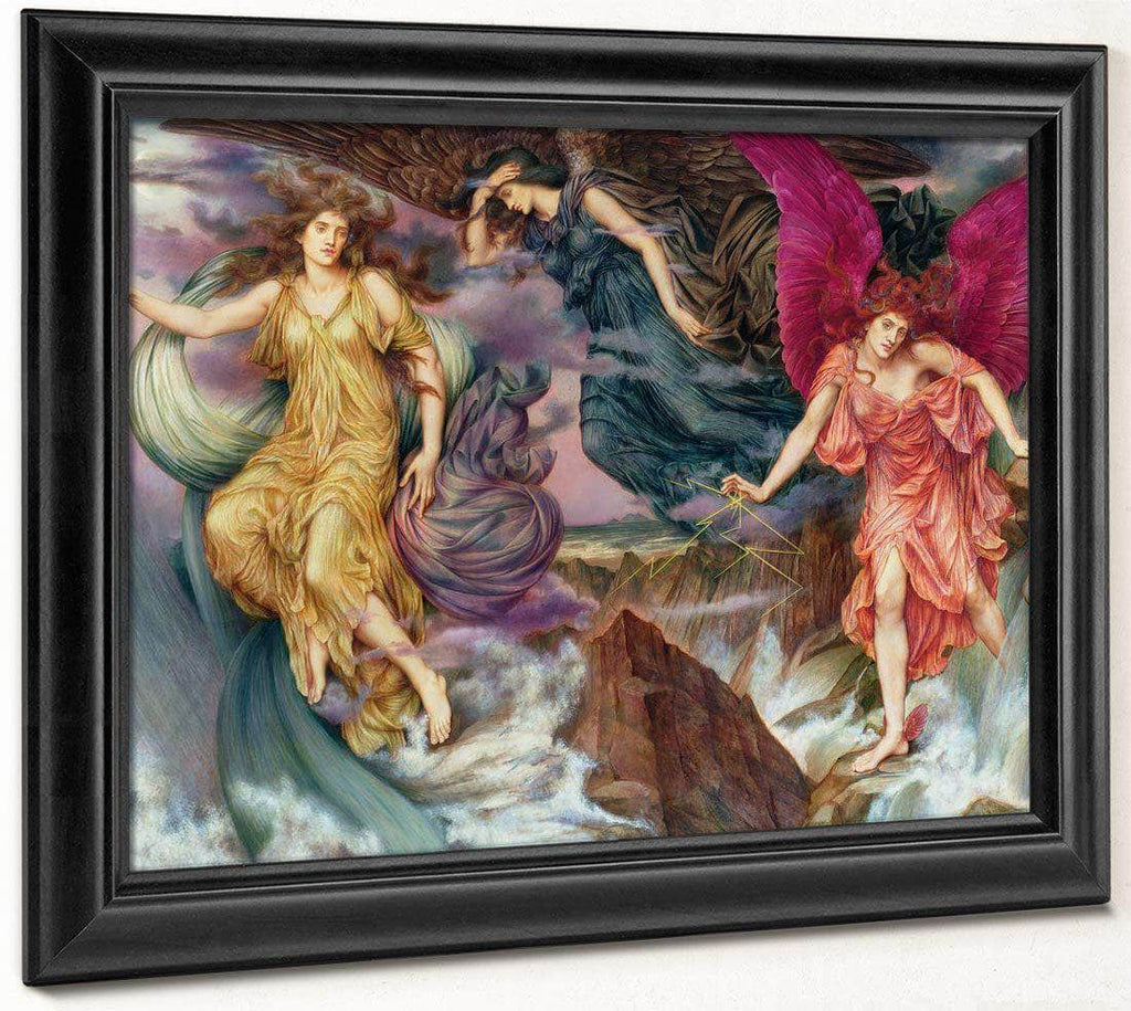 The Storm Spirits 1900 By Evelyn De Morgan