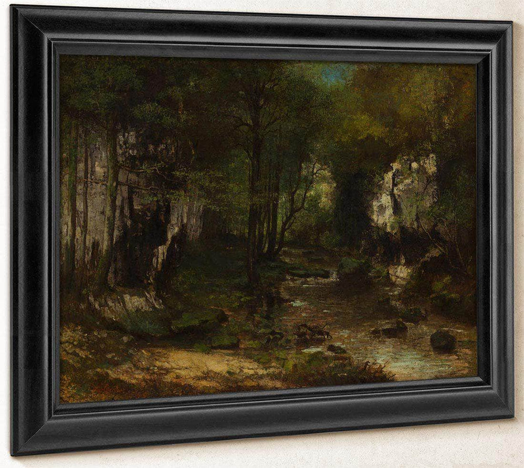 The Stream Le Ruisseau Du Puits Noir Vallee De La Loue By Gusave Courbet