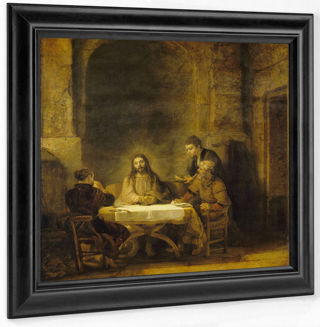 The Supper At Emmaus [Les Perlerins D'emmaus] By Rembrandt