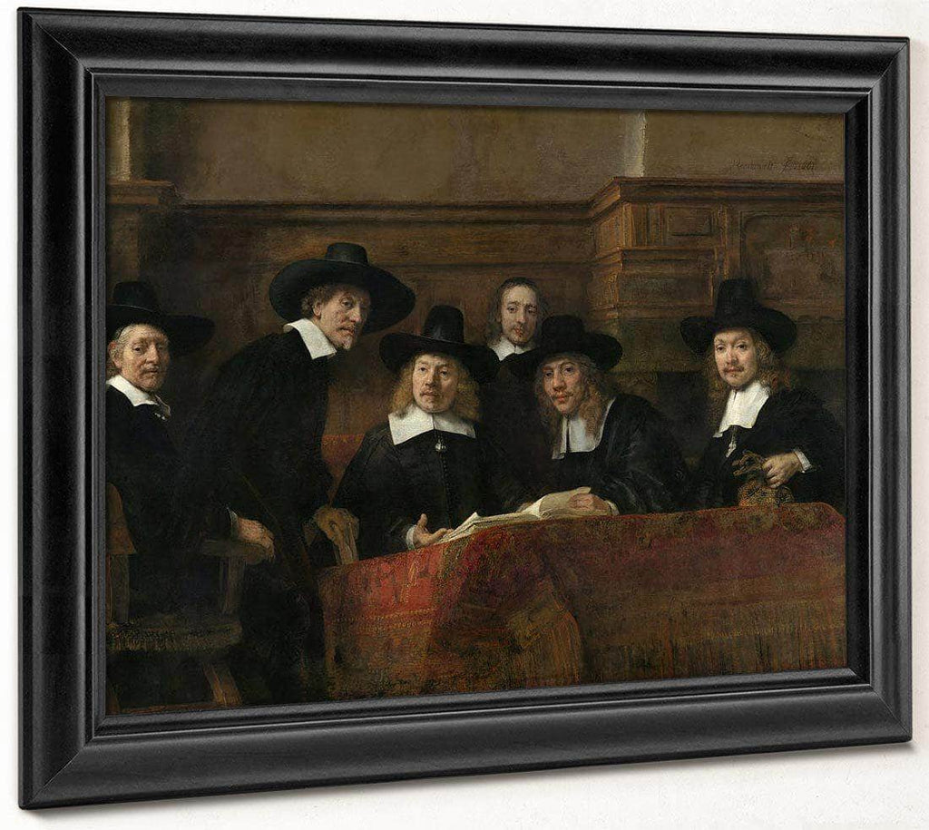 The Syndics  The Sampling Officials (Wardens) Of The Amsterdam Drapers By Rembrandt