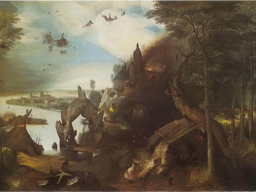 The Temptation Of St By Pieter Bruegel
