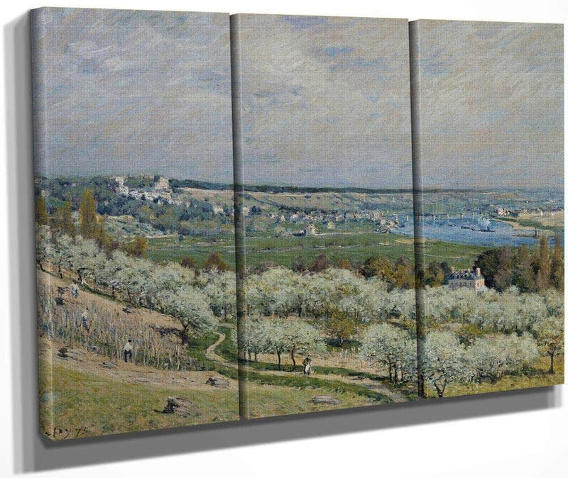 The Terrace At Saint Germain Spring 1875 By Alfred Sisley