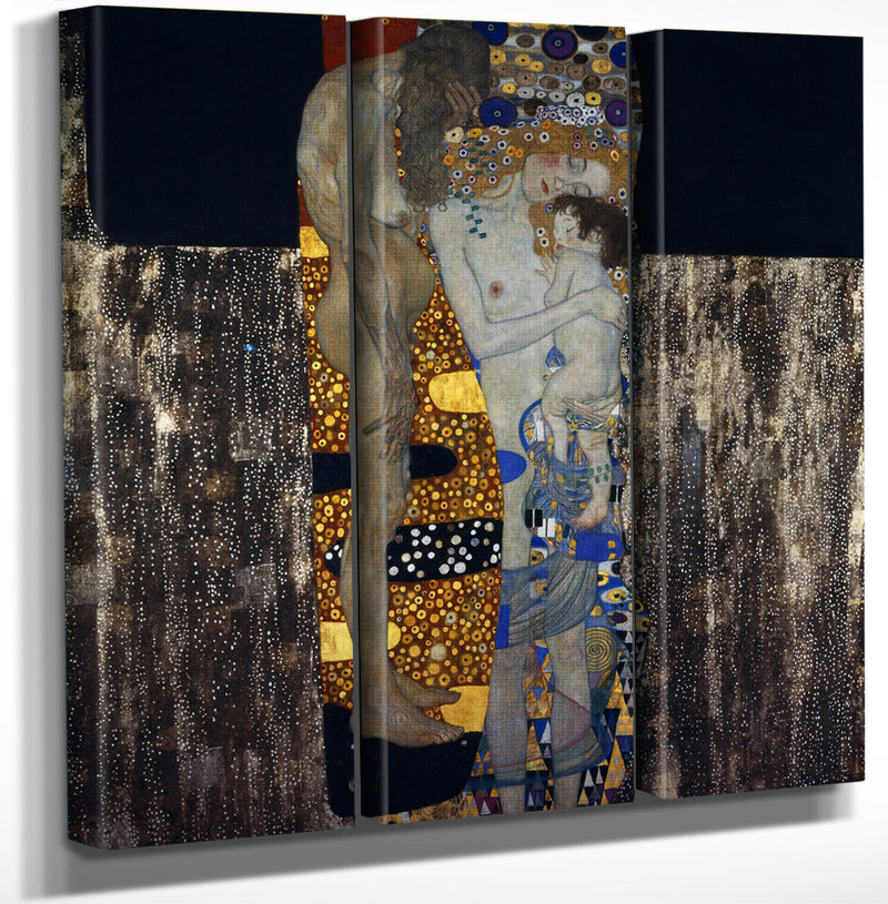 The Three Ages Of Woman 1905 Art Nouveau 180X180Cm Galleria Nazionale Darte Moderna Rome By Gustav Klimt