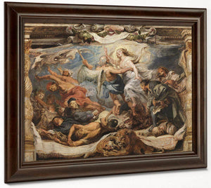 The Triumph Of Truth Over Heresy By Peter Paul Rubens