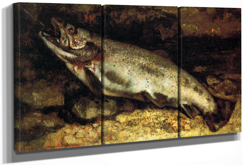 The Trout By Gustave Courbet