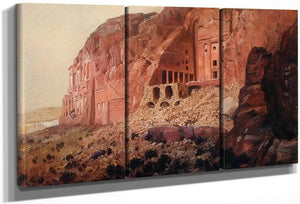 The Urn Tomb Silk Tomb And Corinthian Tomb Petra By Frederic Edwin Church