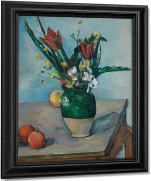 The Vase Of Tulips By Cezanne Paul