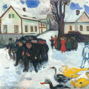 The Village Street 190508 By Edvard Munch