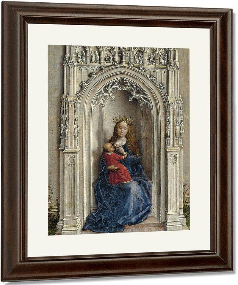 The Virgin And Child Enthroned 1433 By Rogier Van Der Weyden