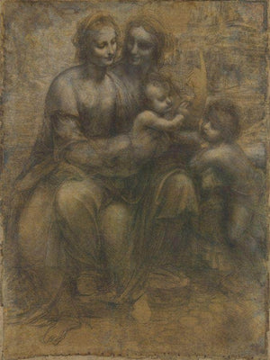 The Virgin And Child With Saint Anne And Saint John The Baptist By Leonardo Da Vinci