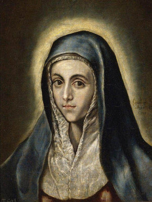 The Virgin Mary 1597 52X41Cm Museo Del Prado P00829 By El Greco