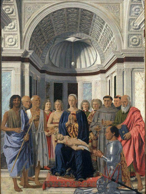 The Virgin With Child Angels And Saints 1474 By Piero Della Francesca