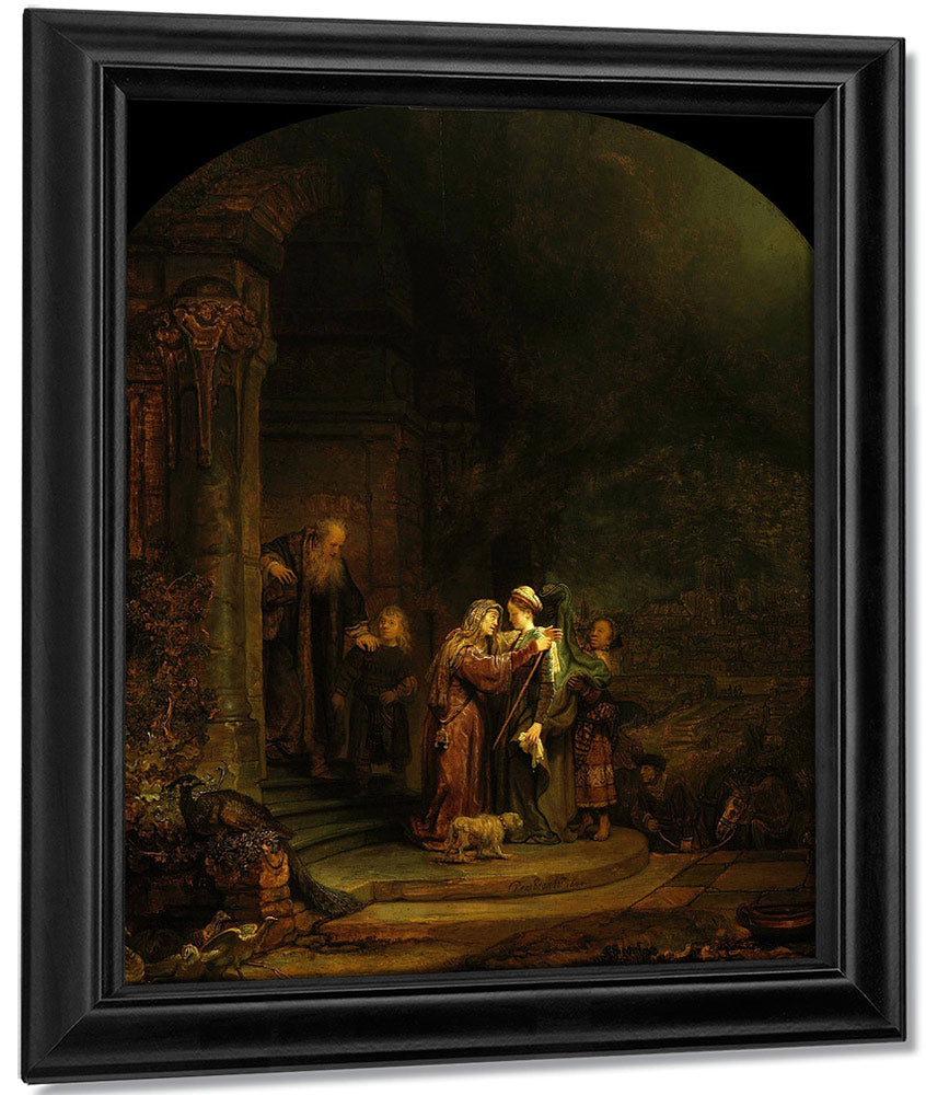 The Visitation By Rembrandt
