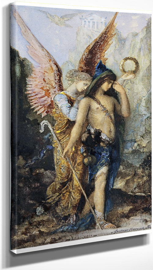The Voices 1867 By Gustave Moreau