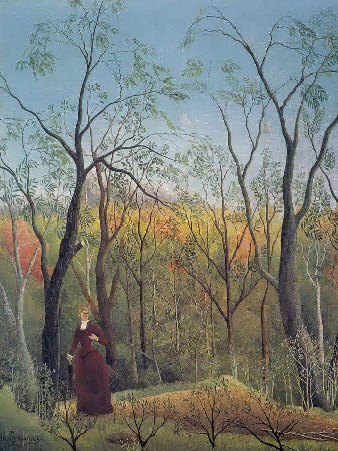 The Walk In The Forest About 1886 La Promenade Dans La Foret By Henri Rousseau