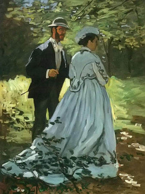 The Walkers By Claude Monet