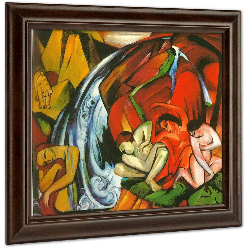 The Waterfall By Franz Marc