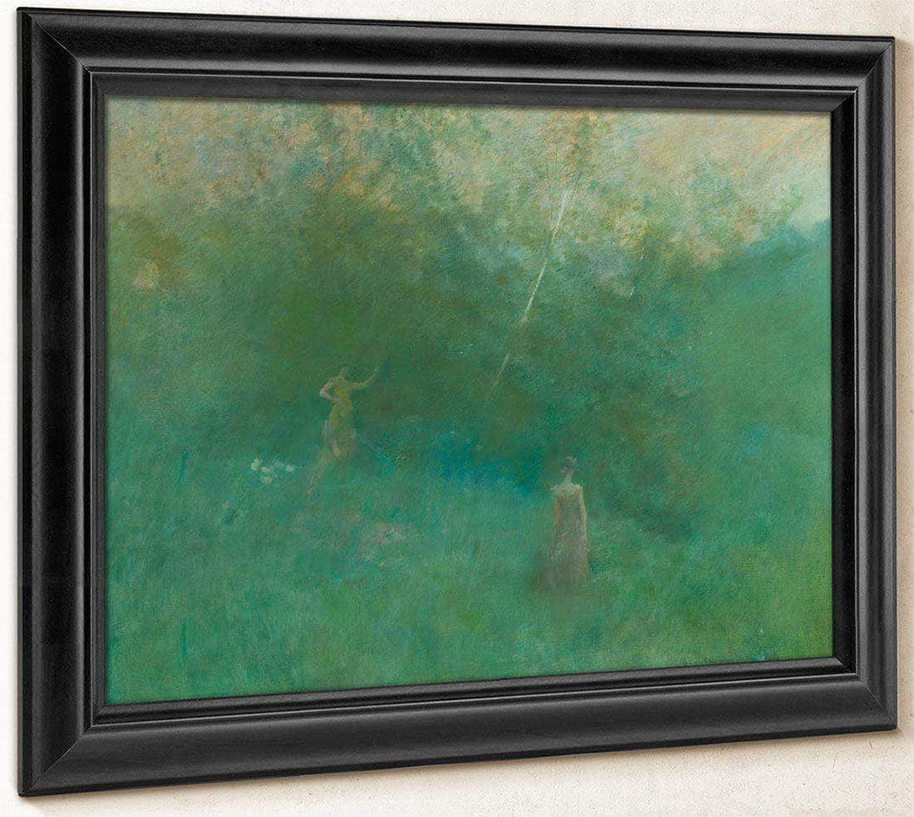 The White Birch By Thomas Wilmer Dewing