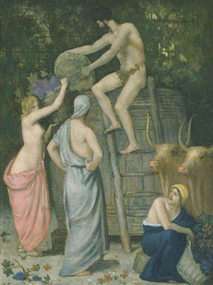 The Wine Press 1865 By Pierre Puvis De Chavannes