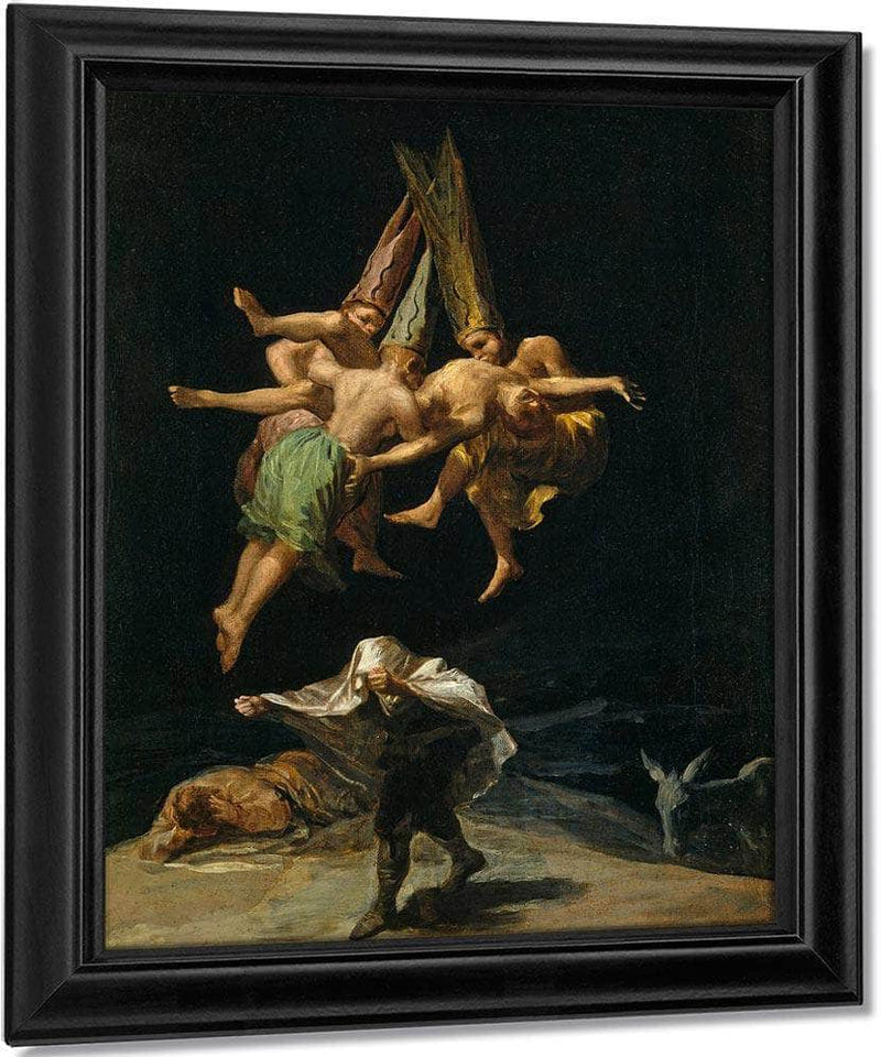 The Witches Flight 1797 43 5X30 5Cm Prado Museum P07748 By Francisco De Goya