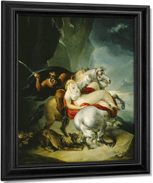The Wolves Descending From The Alps By William Hamilton