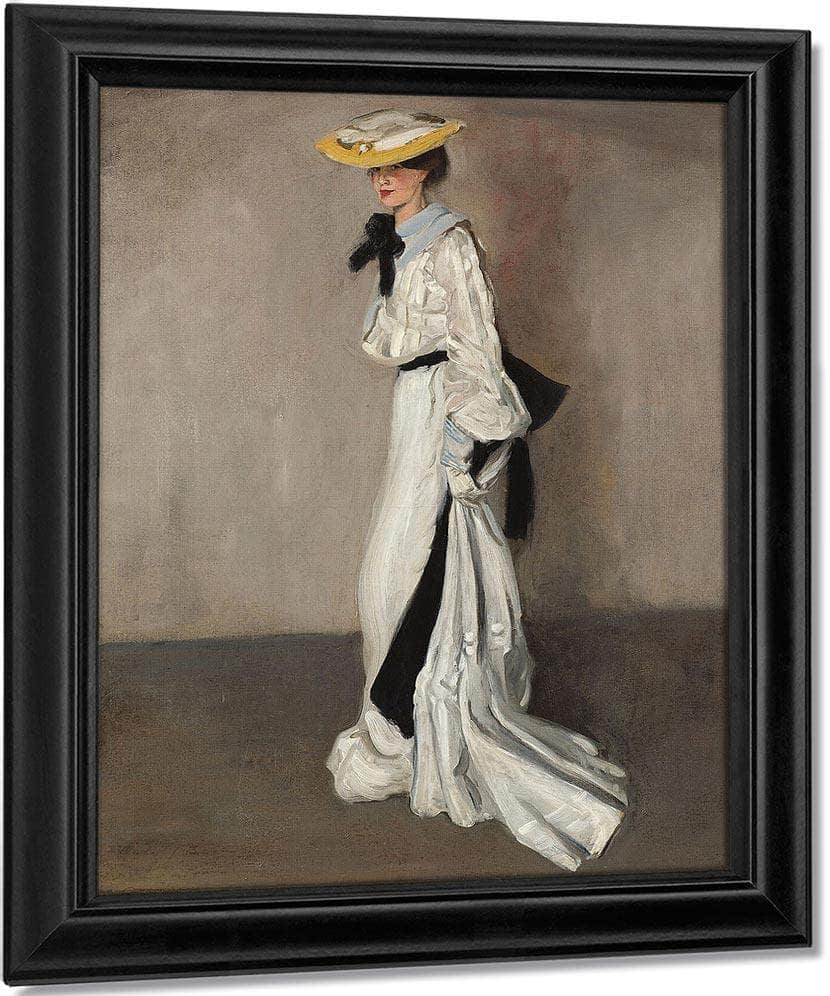 The Woman In White By Alfred Henry Maurer