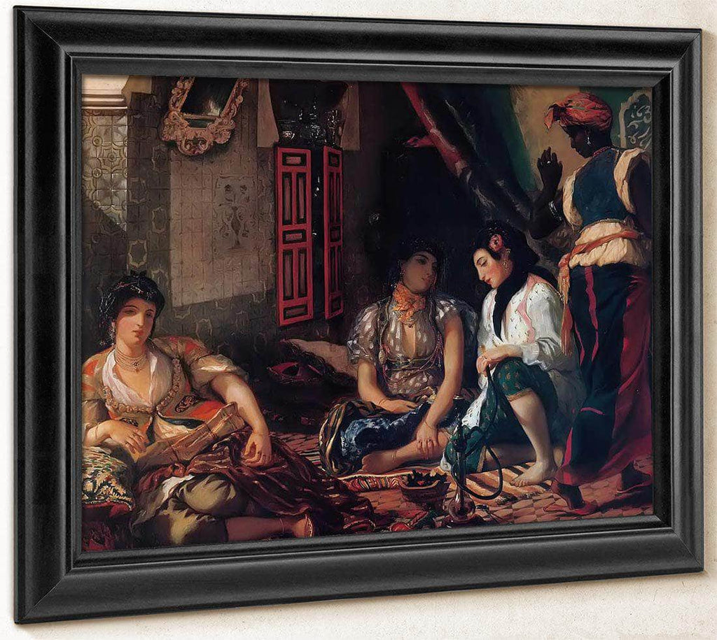 The Women Of Algiers 1834 By Eugene Delacroix