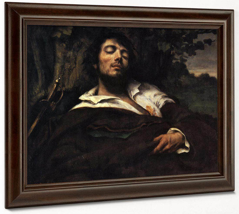 The Wounded Man By Gustave Courbet