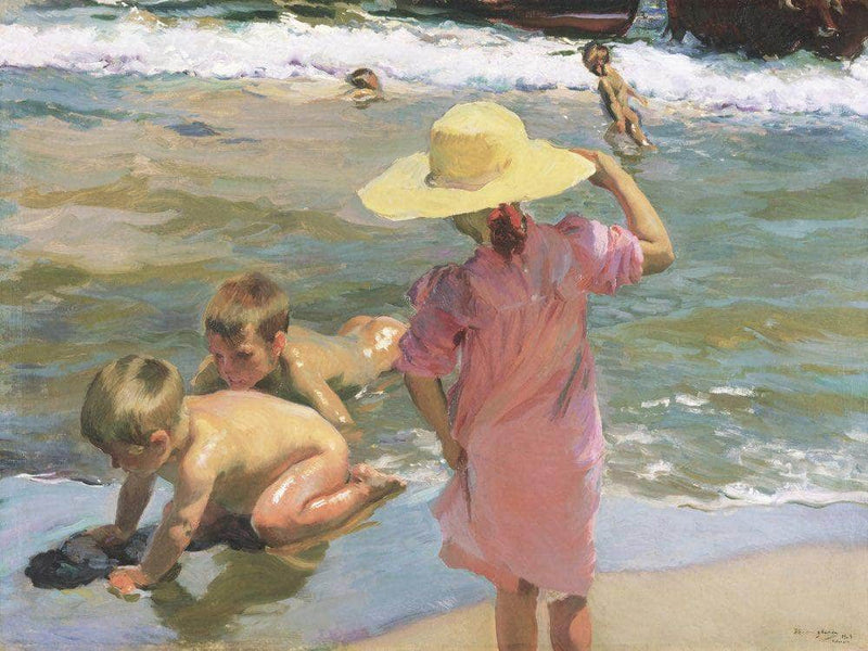 The Young Amphibians By Joaquin Sorolla Y Bastid