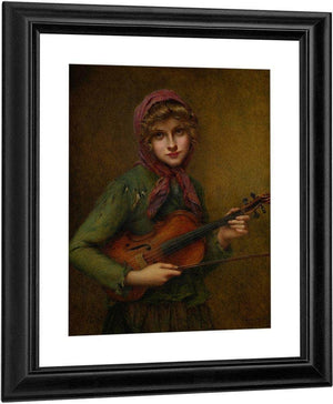 The Young Violinist By Francis Martin Kavel
