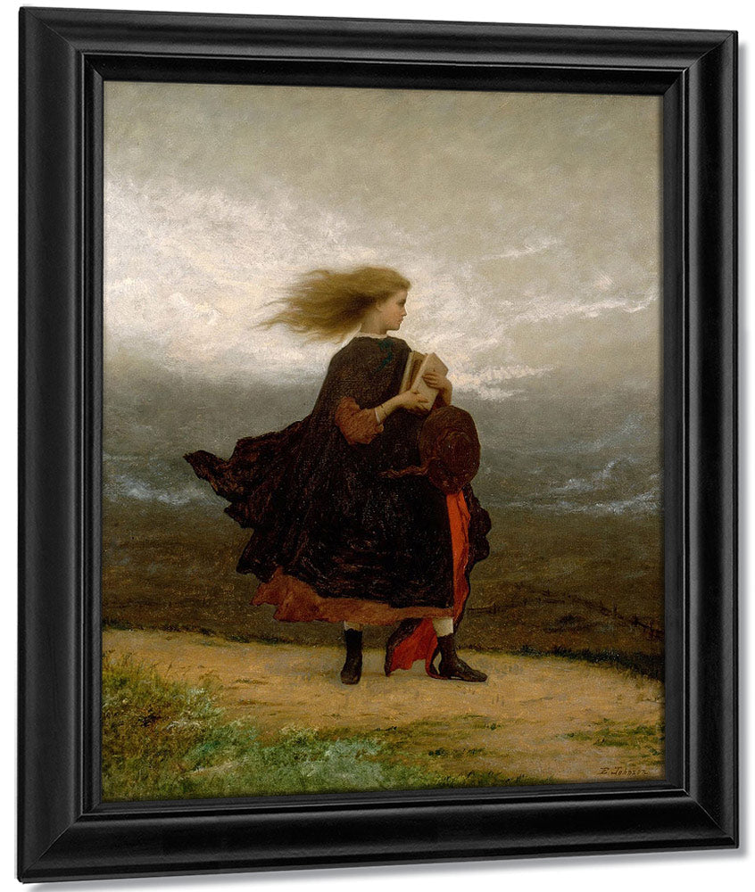 The By Girl By I By Left By Behind By Me By Eastman Johnson