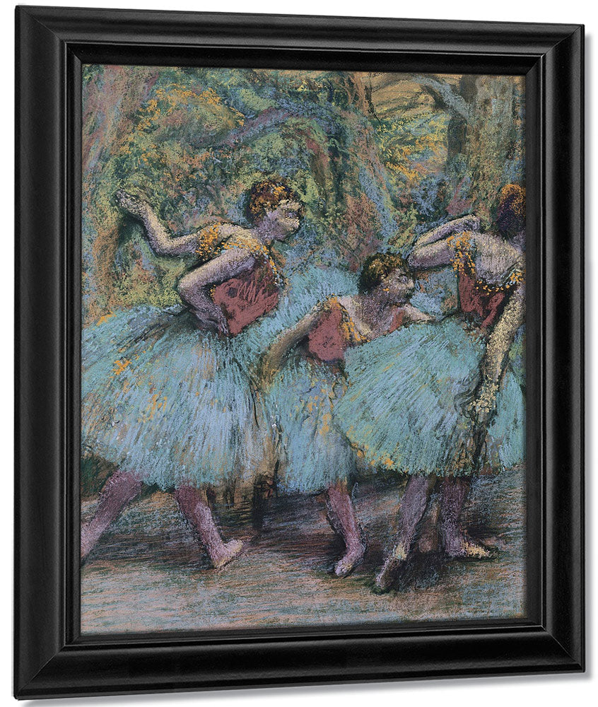 Three Dancers (Blue Tutus, Red Bodices) By Edgar Degas