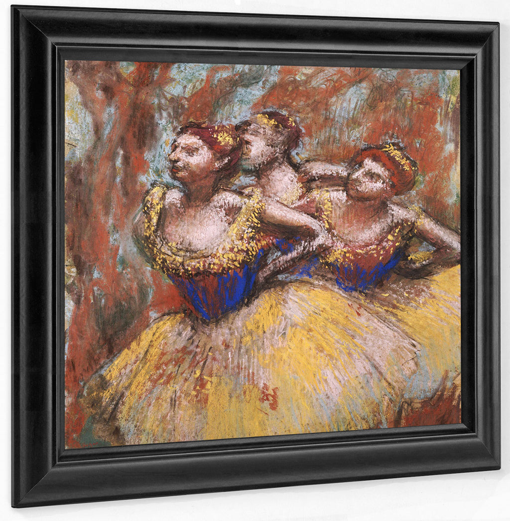 Three Dancers (Yellow Skirts, Blue Blouses) By Edgar Degas