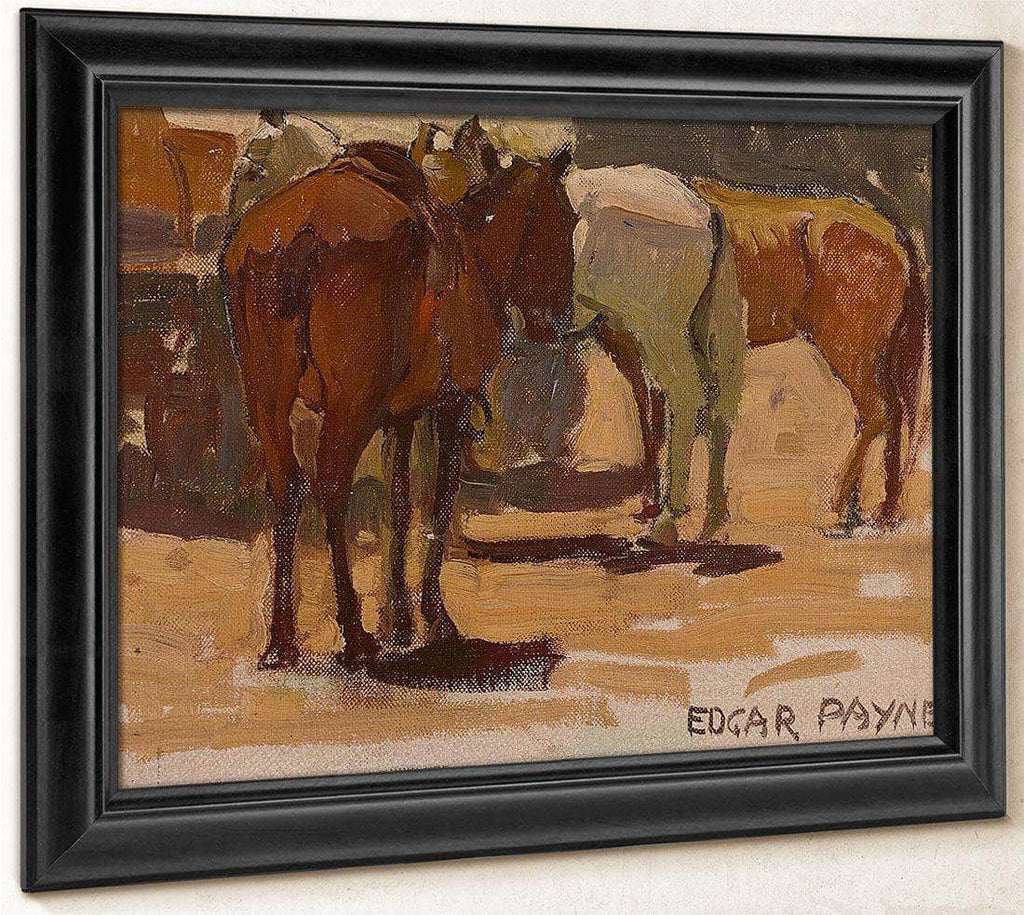Three Horses By Edgar Payne