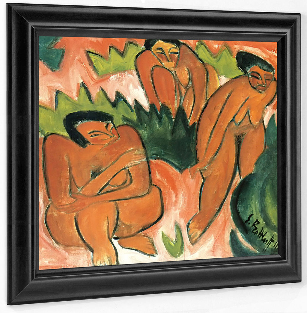 Three Nudes (Dune Picture From Nidden) M9 Karl Schmidt Rottluff