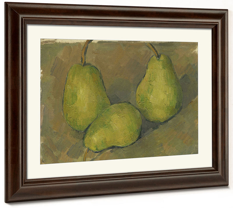 Three Pears By Paul Cezanne